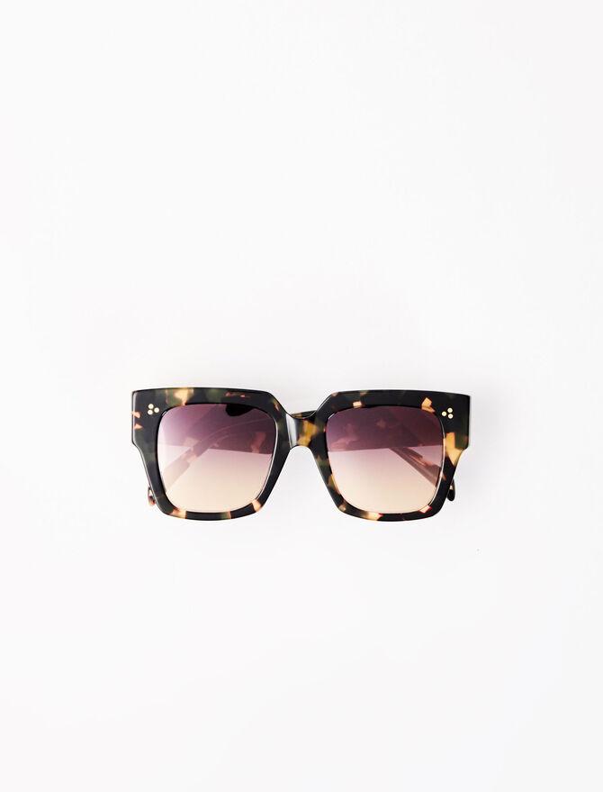 Brown square sunglasses - Eyewear - MAJE