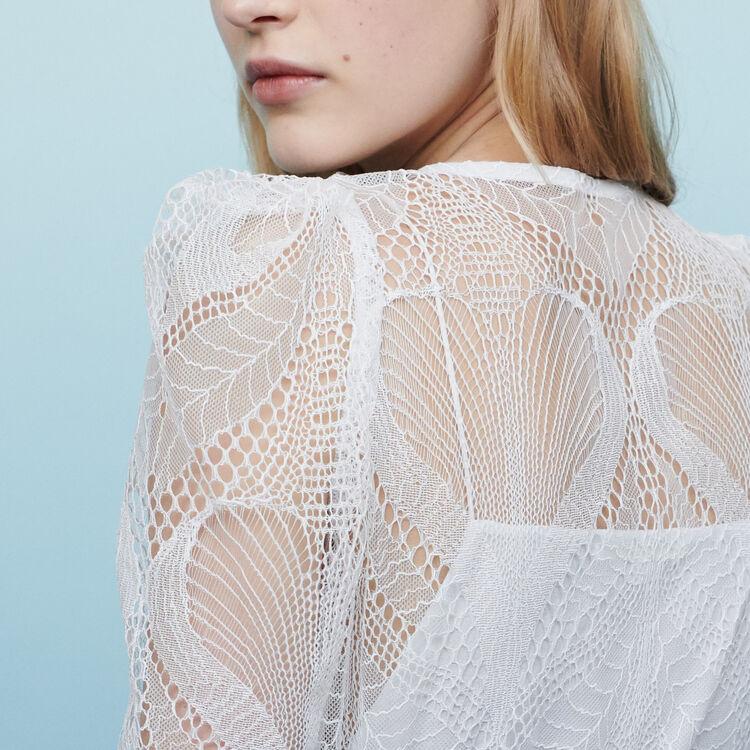 Lace wrap top : Tops & Shirts color Ecru