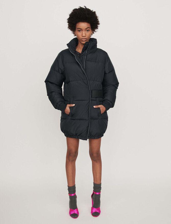 Long hooded puffer coat -  - MAJE