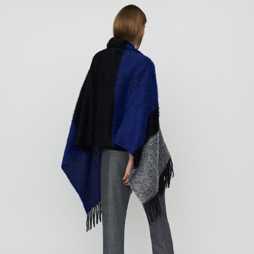 Echarpe en laine color block : Shawls & Ponchos color Purple