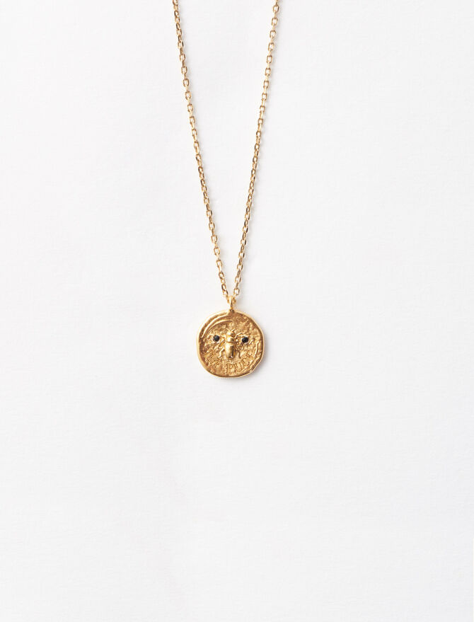 Ma puce gold-plated necklace - Jewelry - MAJE