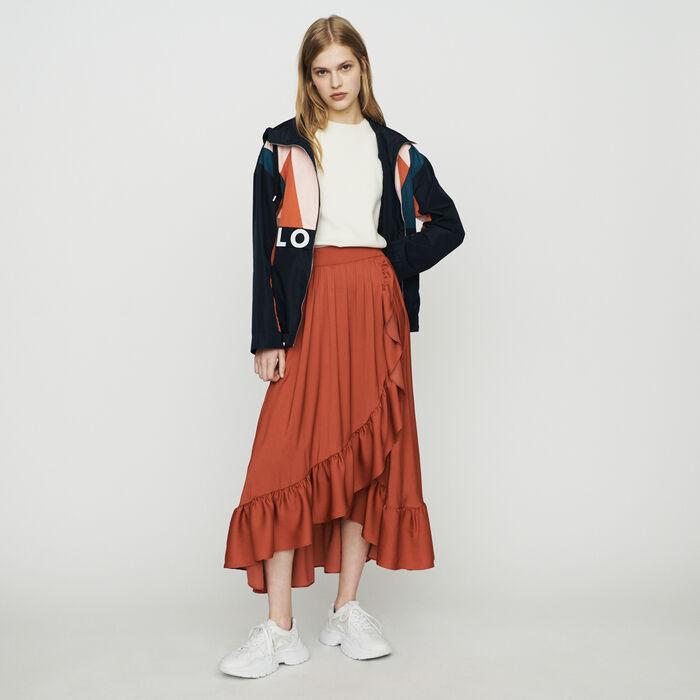 Long skirt : Skirts & Shorts color Terracota