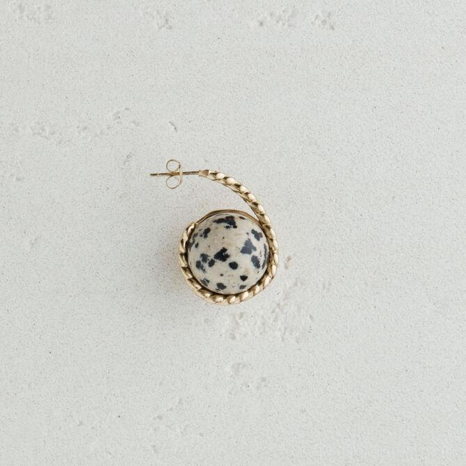 Boucle d'oreille droite en pierre - Accessoires_Bijoux - MAJE