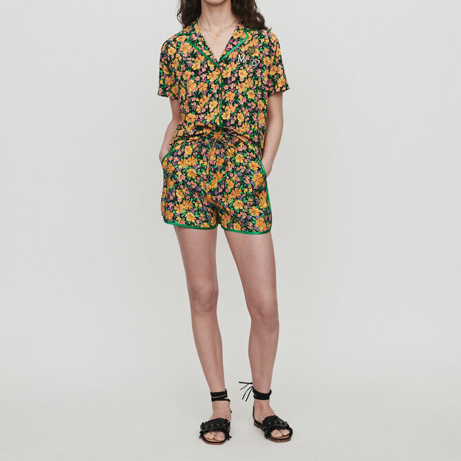 Pajama-style printed shirt - See all - MAJE