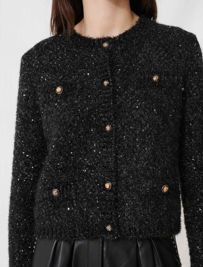 CARDIGAN WITH LUREX THREADS - Pullovers & Cardigans - MAJE