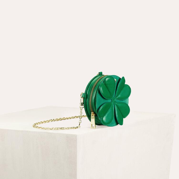Clover shape crossbody mini bag : See all color Green
