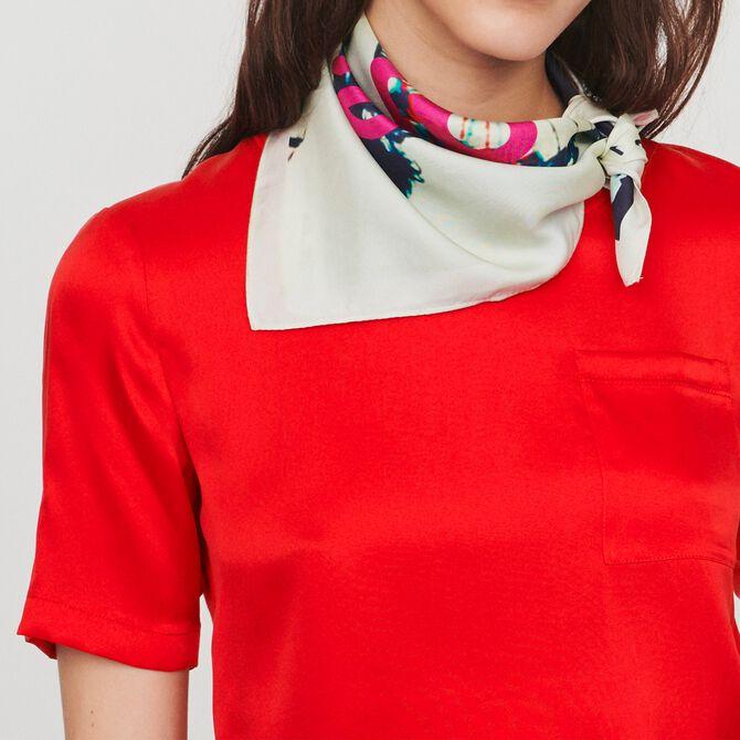 Tee-shirt bimatière - SoldesCH-T-shirts - MAJE