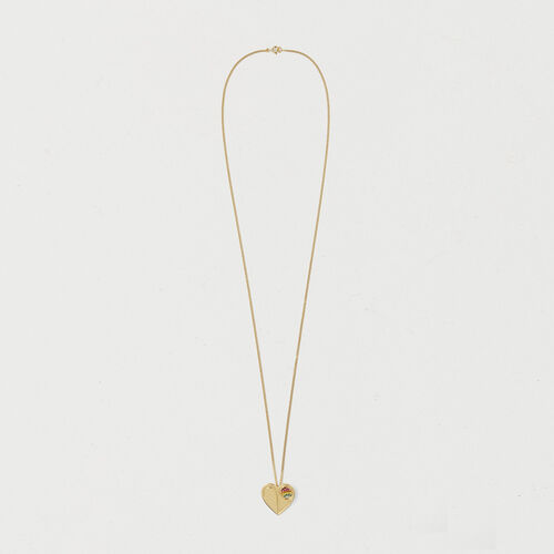 Necklace with heart medallion : Gadgets color GOLD