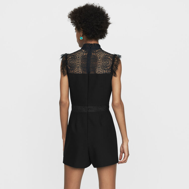 Romper with lace : Skirts & Shorts color Black 210