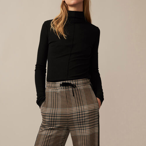 Checked jogging bottoms : See all color Jacquard