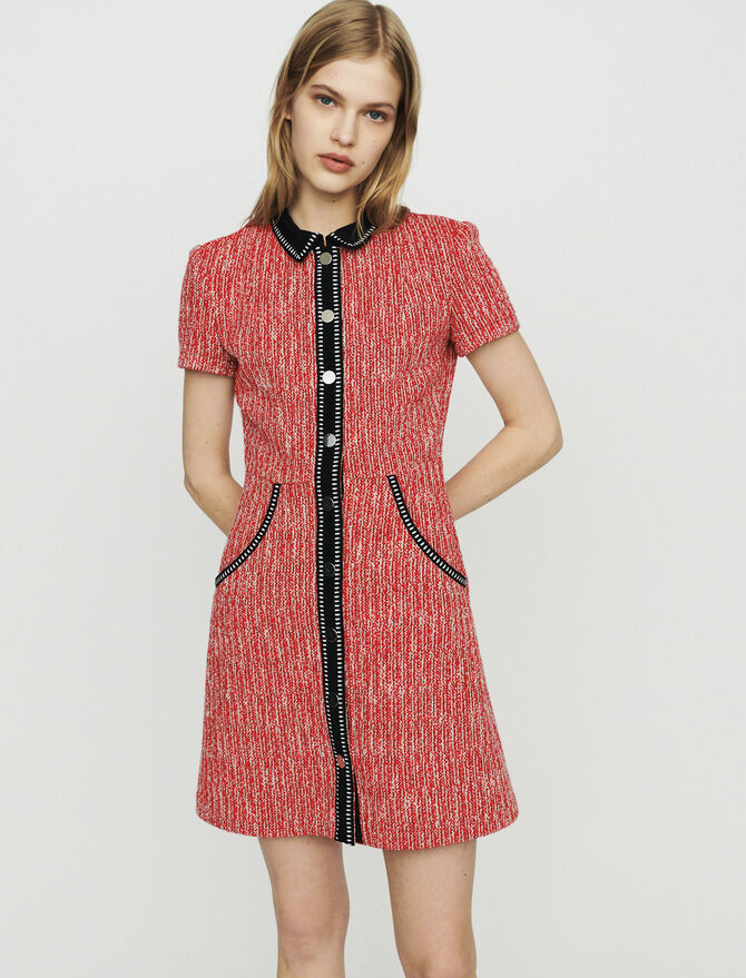 Tweed-style dress -  - MAJE