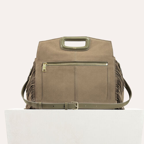 Suede shoulder bag : M Walk color Khaki