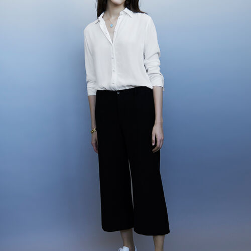 Cigarette trousers : Trousers color Black 210