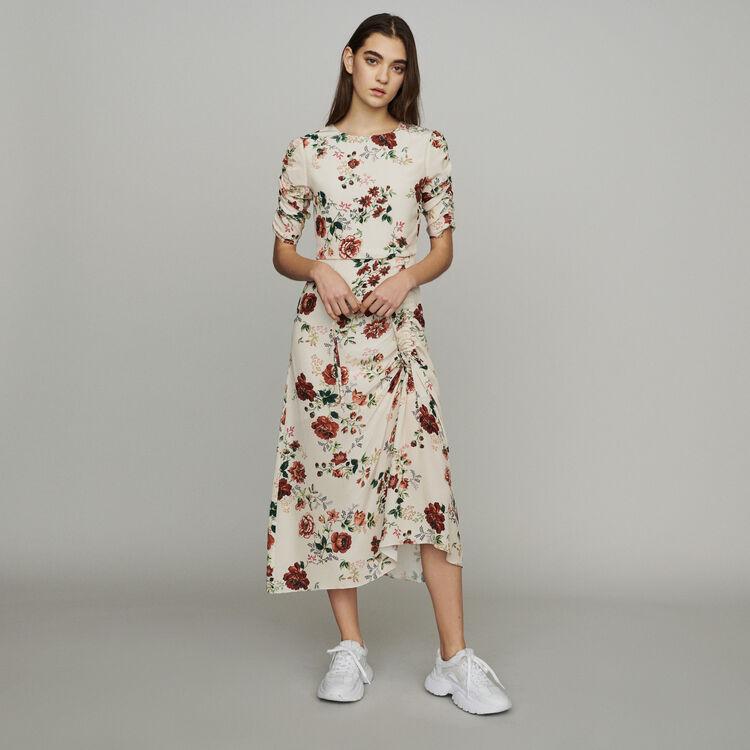 Long dress with floral print : Dresses color Print
