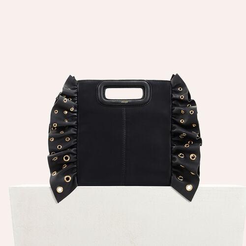 Frilled M bag : M bags color Black 210
