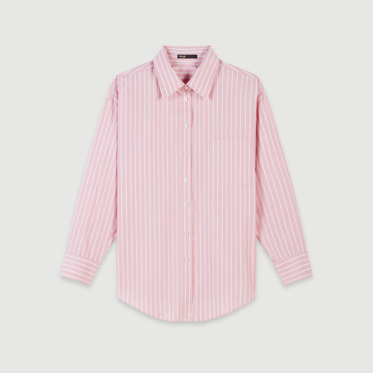 Oversized striped shirt : Tops & Shirts color Pink
