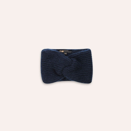 Knitted headband : Other accessories color Navy