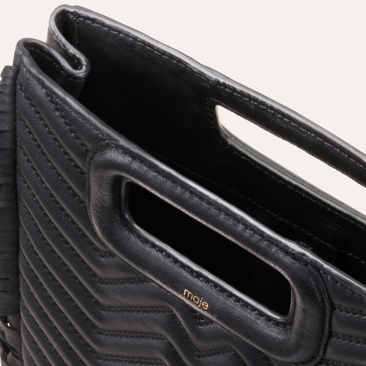 Quilted leather M bag : M bag color Black