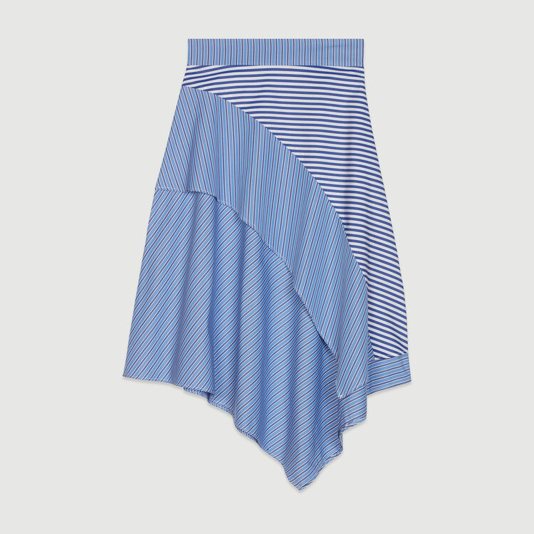 Striped cotton skirt : Skirts & Shorts color Stripe