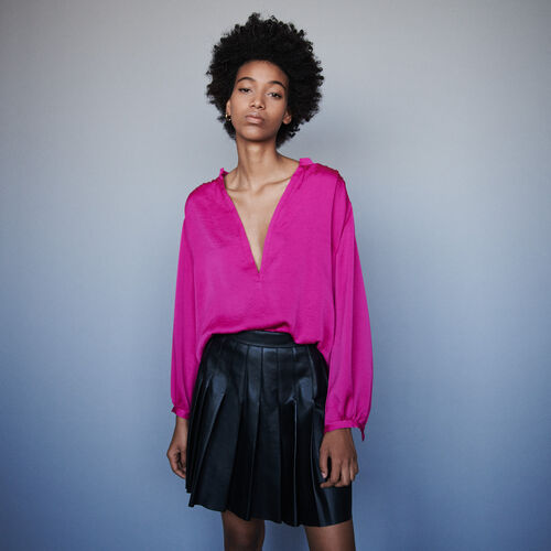 Satin top : Tops & Shirts color Pink