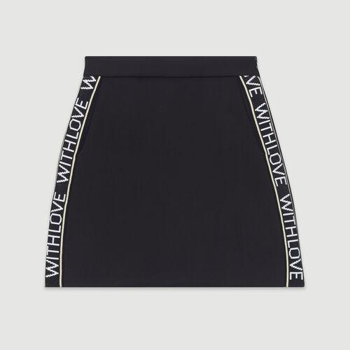 Jupe courte et bandes à message : Pap_Jupes-Shorts couleur Black