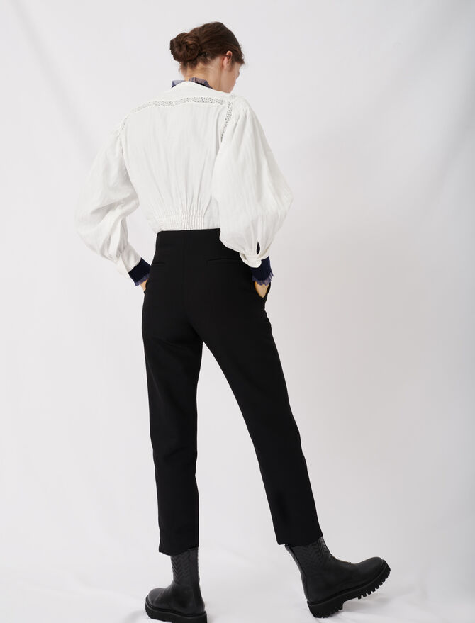Pantalon droit ceinturé - Pap_Pantalons-Jeans - MAJE