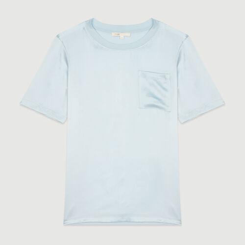 Bimaterial T-shirt : T-Shirts color Blue Sky