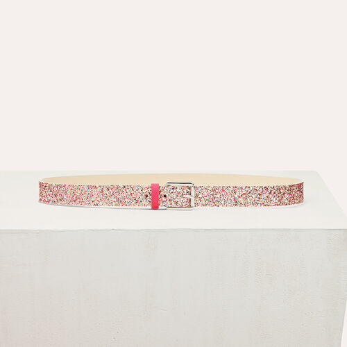 Sequinned belt : Accessoires color Black 210
