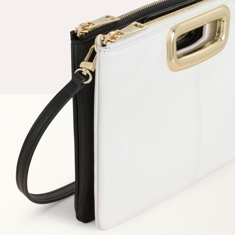 M Duo Skin purse in leather : M Skin color Black 210