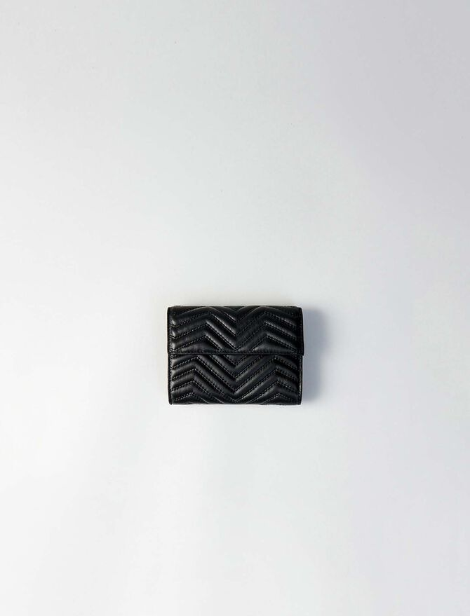 Quilted leather wallet - Small leather goods - MAJE