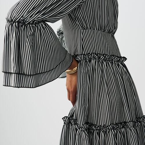 Stripes printed dress : Dresses color Stripe