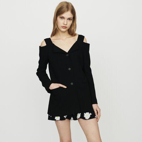 Cold-shoulder jacket : New in : Summer Collection color Black 210