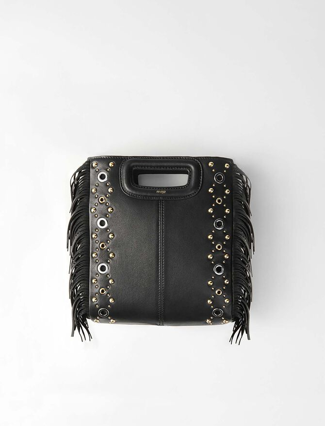 Leather M bag with eyelets - Bags and small leather goods - MAJE