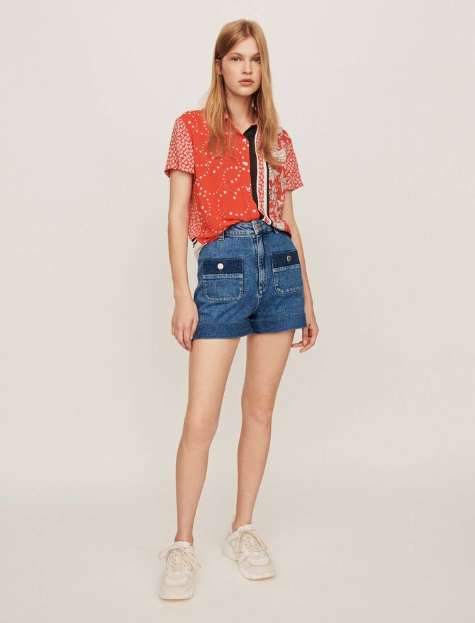 Short-sleeved scarf shirt - Tops & Shirts - MAJE