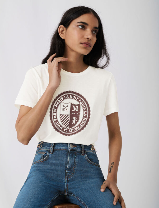 Tee-shirt façon collège sérigraphié - Pap_Tshirts - MAJE