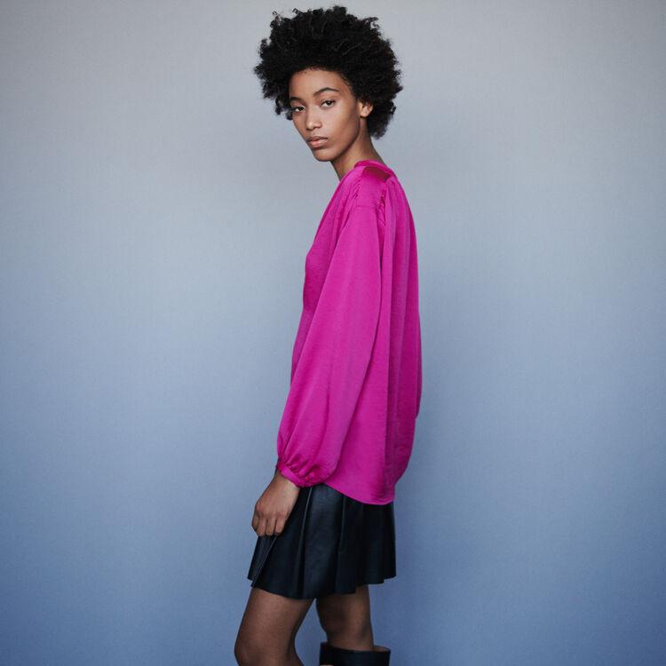 Satin top : Tops & Shirts color Pink