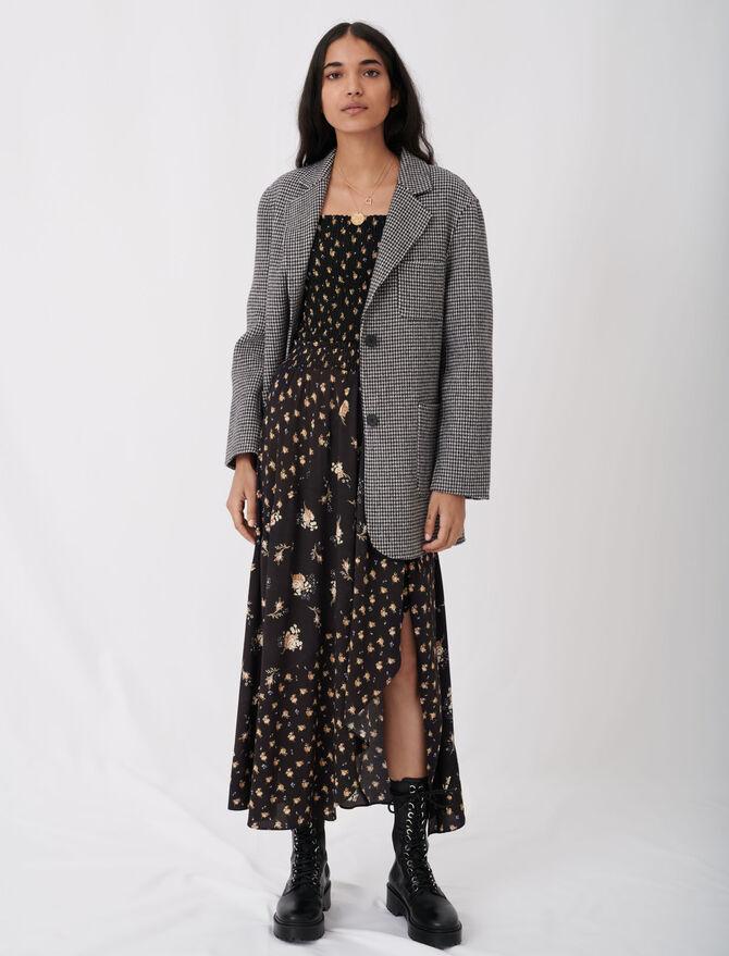 Blazer-style checked coat -  - MAJE