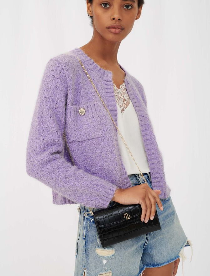 Lurex cardigan with jewel buttons - Pullovers & Cardigans - MAJE
