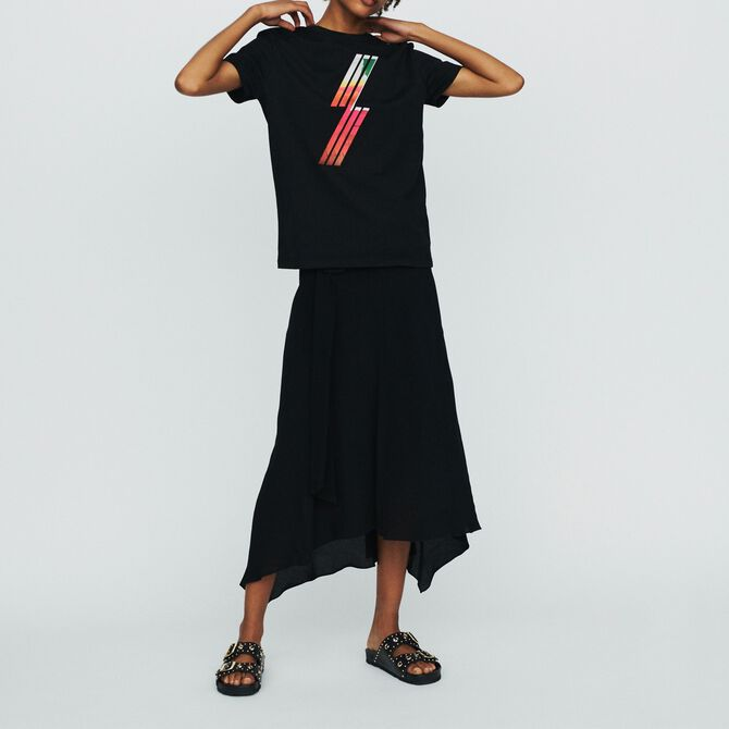 Silkscreen embroidered T-shirt - See all - MAJE