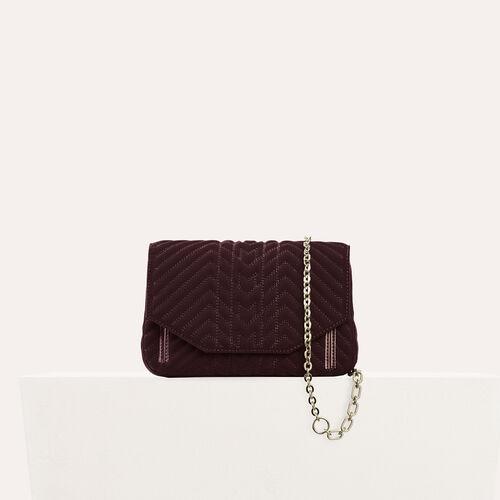 Quilted velvet evening bag : null color BORDEAUX