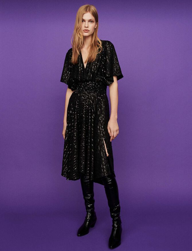 Sequin smock dress - Dresses - MAJE