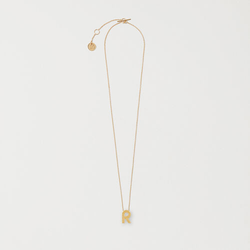 Necklace with initial pendant : Medallions color GOLD