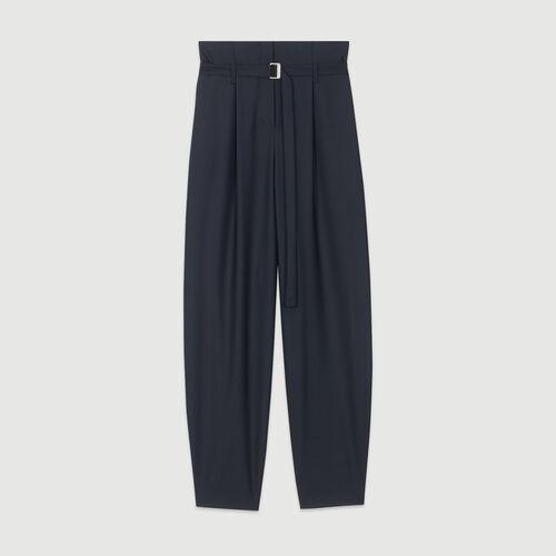 Pantalon large : Pap_Pantalons-Jeans couleur MARINE