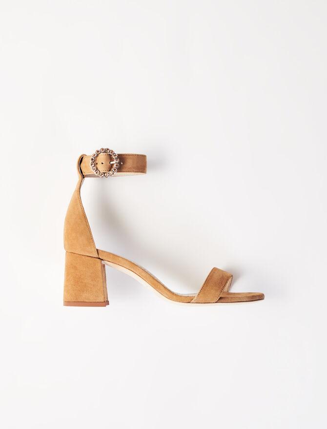 Strappy midi-heeled sandals - Sandals - MAJE