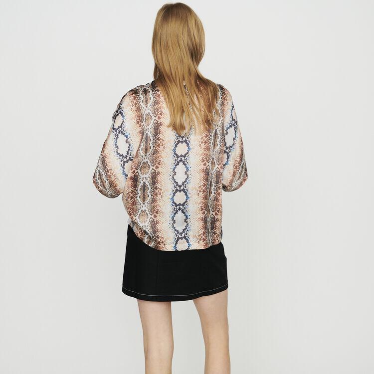 Shirt with python print : Tops & Shirts color Printed