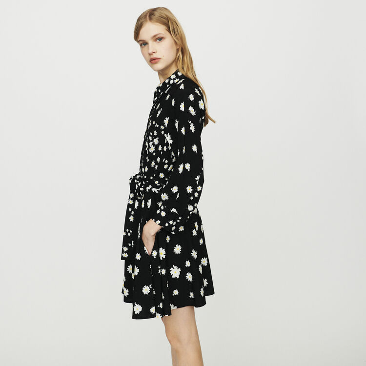 Dress with mixed daisy print : Dresses color Print