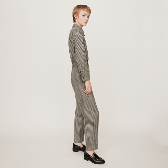 Combinaison-pantalon à carreaux - staff-private-sale - MAJE