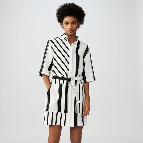 Bicolor shirt dress : Dresses color Stripe