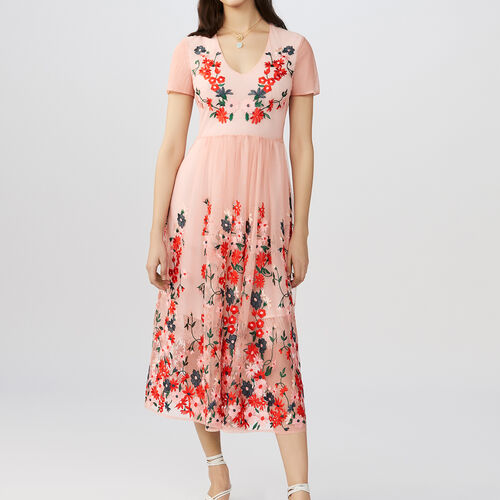Long dress embroidered : Dresses color Black 210