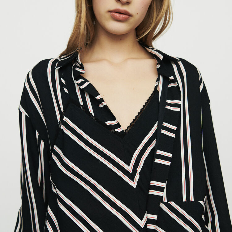 Shirt with trompe-l'œil stripes : Tops & Shirts color Stripe